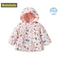 巴拉巴拉宝宝棉服女1-2岁婴儿冬装潮2018新款棉衣保暖加厚女童潮