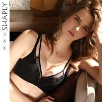 莎莲妮专柜性感聚拢调整型文胸 内衣女收副乳胸罩小胸中厚蕾丝