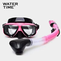 蛙咚 潜水镜 浮潜面具 装备护鼻蛙镜 可配近视