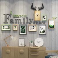 照片墙相框墙客厅餐厅简约现代装饰实木挂墙上创意组合欧式相片墙
