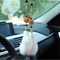 创意水钻石汽车挂件 车内装饰品毛车载后视镜挂饰男女生日车礼物