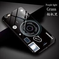 网红苹果x手机壳硅胶iPhone6s玻璃壳7/8个性创意照相机8plus潮牌情侣6sp保护套搞怪伪装