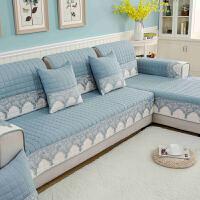四季沙发垫通用布艺防滑简约现代沙发套全包坐垫欧式全盖夏季