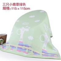 纯棉毛巾被加厚大新生婴儿童纱布全棉幼儿园宝宝薄被秋冬季盖毯子 0x1cm