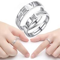 欧丁情侣戒指女创意男女活口结婚对戒日韩开口男士尾戒子一对T