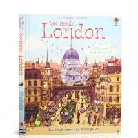 【全店300减100】Usborne 看里面系列 英文原版See Inside London 伦敦 科普立体机关翻翻书