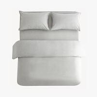 当当优品色织四件套 纯棉日式水洗磨毛床品 双人1.5米床 麻灰