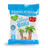 英国童之味kiddylicious 婴儿零食辅食 迷你椰子卷宝宝磨牙饼 54g