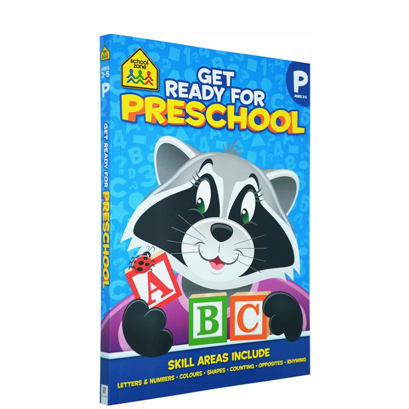 【3-5岁思考练习】School Zone Thinkers Get Ready for Preschool 思想者 学前的准备 字母表练习册 英文原版