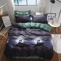 纯棉四件套全棉被套1.8m床上用品儿童单人床学生宿舍上下铺三件套