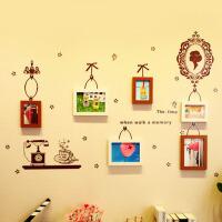 相框 实木照片墙墙贴组合