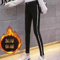 加绒加厚打底裤女外穿冬季新款显瘦小脚裤铅笔裤黑色棉魔术裤