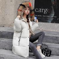 2018新款反季羽绒女加厚外套冬天面包服棉袄韩版中长款棉衣