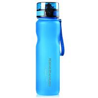 大容量太空杯便携水杯 防漏学生户外旅行运动磨砂塑料水壶 尊贵蓝 1000ml 弹盖