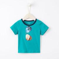 【1件3折到手价:22.5,9月17日0点开抢】米喜迪夏装小童婴儿t恤时尚印花19新款13岁男宝宝短袖衣服