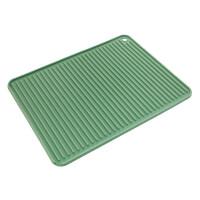 创意硅胶防滑沥水垫加厚家用盘碗垫餐桌垫餐茶具创意水槽杯垫茶垫 升级款A 绿色