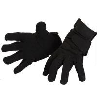 冬季全指手套男女攀岩装备 户外速降手套战术登山黑鹰手套 黑色