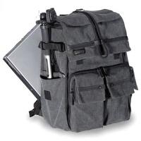 摄影包双肩包背包相机包休闲电脑包书包 灰色加厚版