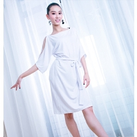 拉丁舞服装女跳舞练功舞蹈连衣裙