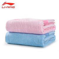 李宁成人运动健身擦汗浴巾纯棉吸水速干毛圈加厚浴巾