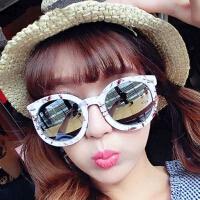 爆款大理石纹太阳镜 时尚米钉墨镜女9711 圆框箭头太阳眼镜2