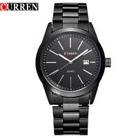 CURREN 卡瑞恩8091 男士日历防水石英手表 潮流商务休闲腕表