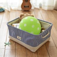 无盖棉麻收纳箱帆布收纳袋衣服整理箱玩具储物盒