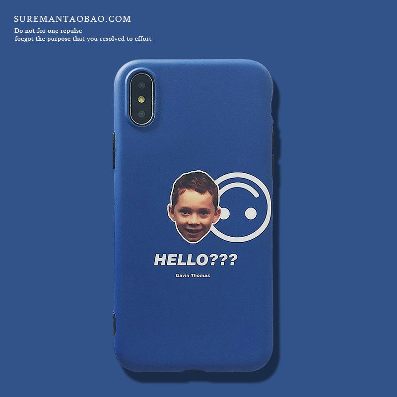 创意简约iPhone6s plus手机壳软壳 max情侣保护壳xr外壳