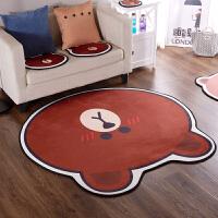 布朗熊地垫客厅坐垫脚垫可爱卡通异形地毯宝宝爬行垫防滑进门垫子 20.*20 鼠标垫(1号)