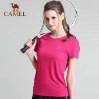 骆驼户外短袖男女夏吸汗透气健身圆领运动速干T恤
