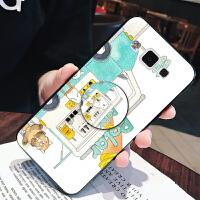 气囊支架 三星A5手机壳GalaxyA5000软硅胶A5100全包边A5 2017版保护防摔套男女情