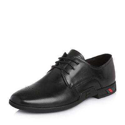 Belle/百丽2018春季新品专柜同款牛皮革男皮鞋5QW01AM8