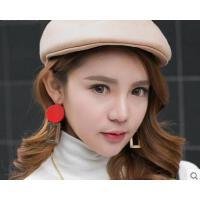 新款韩版英伦日系可爱画家帽子女百搭羊毛贝雷帽女