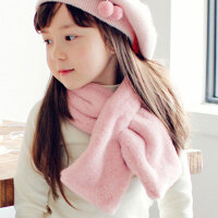 儿童围巾秋冬季男童女童宝宝围脖公主潮毛绒小孩婴儿