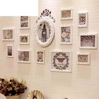 艾欧唯 室客厅沙发背景相片挂墙创意装饰照片墙简约现代欧式实木相框墙卧