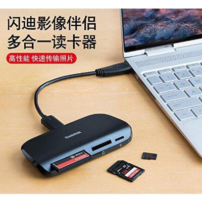 Sandisk闪迪 读卡器 SDDR-489 影像伴侣 多合一 SD CF TF 读卡器 USB3.0 高达312 MB/s的传输速度,