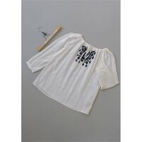 宛[G54-220]专柜品牌499正品亚麻女士打底衫女装雪纺衫0.18KG