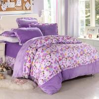 韩版珊瑚绒四件套加厚保暖冬季法兰绒法莱绒被套床单1.8m床上用品
