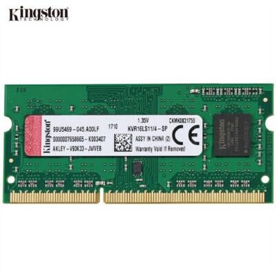 金士顿(Kingston)低电压版 DDR3 1600 8GB 笔记本内存条 1.35V电压 兼容1333电脑内存条 该内存新老包装随机发货,性能不变