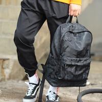 男士背包休闲初中学生书包潮牌时尚潮流大学生旅行包帆布双肩包