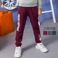 暇步士童装新款秋装男童裤子中大童单层长裤儿童时尚运动裤