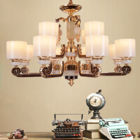 新中式吊灯客厅灯锌合金玉石创意家居灯饰客厅灯卧室餐厅灯具