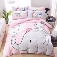 全棉卡通四件套可爱床单被套纯棉儿童床上用品三件套床笠1.2/1.5m上新