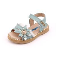 女童凉鞋宝宝学步鞋露趾搭扣夏款新