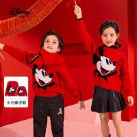 【今日3折�A估�r:122.8元】迪士尼新年�b拜年服�和��A�I毛衫男童女童����洋�饪ㄍㄍ��b毛衣潮
