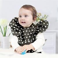婴儿用品围嘴围兜宝宝波点土豪金防水口水巾天使儿童饭兜