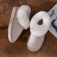 雪地靴女冬季韩版百搭学生短筒加绒保暖女靴厚底学生棉鞋