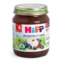 德国HIPP喜宝 蓝莓苹果泥125g6个月以上婴幼儿辅食泥2段辅食果泥