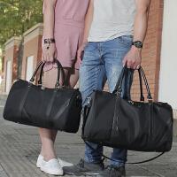 牛津布女单肩男士旅行包袋手提包大容量尼龙男出差短途行李包运动 WR L 黑色 中