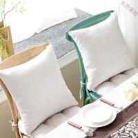 棉麻抱枕加厚客厅沙发靠垫套靠背汽车办公室椅子床头靠枕芯 45X45cm单个装抱枕(套+芯)